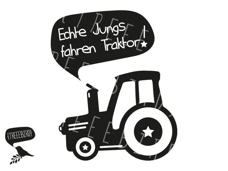 weiteres plotterdatei echte jungs fahren traktor ein designerst ck von treeebird bei. Black Bedroom Furniture Sets. Home Design Ideas