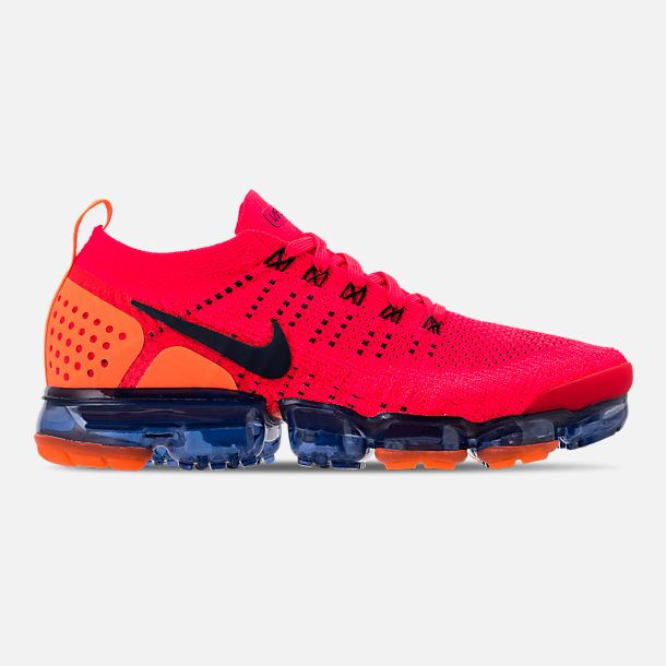eee5800b423d6 Right view of Men s Nike Air VaporMax Flyknit 2 Running Shoes in Red Orbit  Obsidian Total Orange