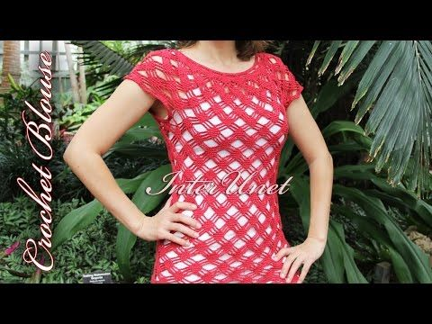 Crochet Blouse Lace Summer Top Crochet Pattern Youtube Crochet