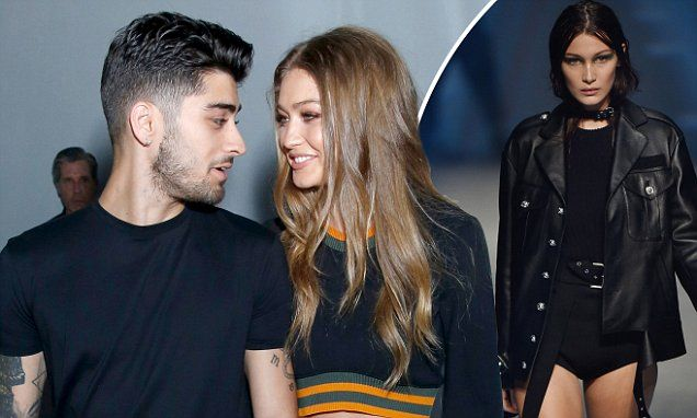 Gigi Hadid and Zayn Malik only have eyes for each other at LFW Versus show | Daily Mail Online