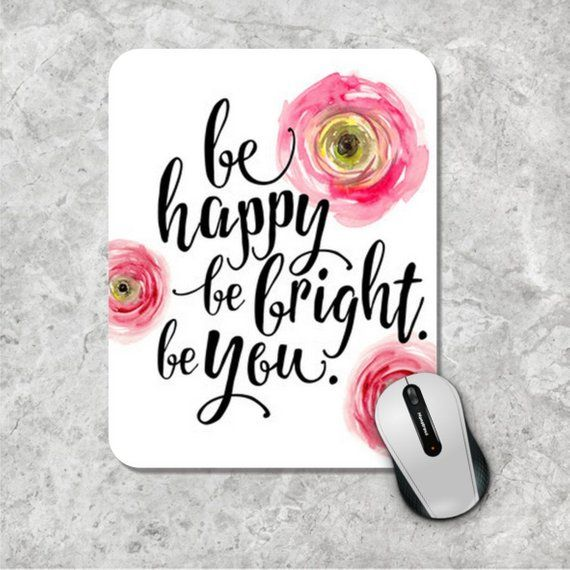 picture about Printable Mouse Pad identified as Estimate Mousepad, Be Content Mouse Pad, Watercolor Mouse Mat