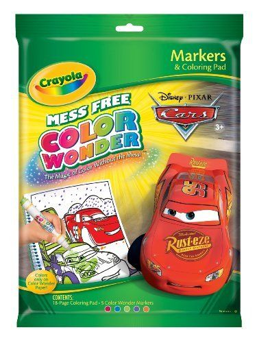Crayola Color Wonder Disney Cars Coloring Book and Markers by Binney ...