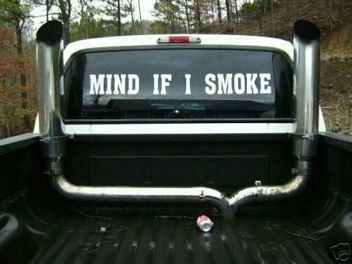 Yes, I really do!   And that exhaust gets in your cab too, idjit!