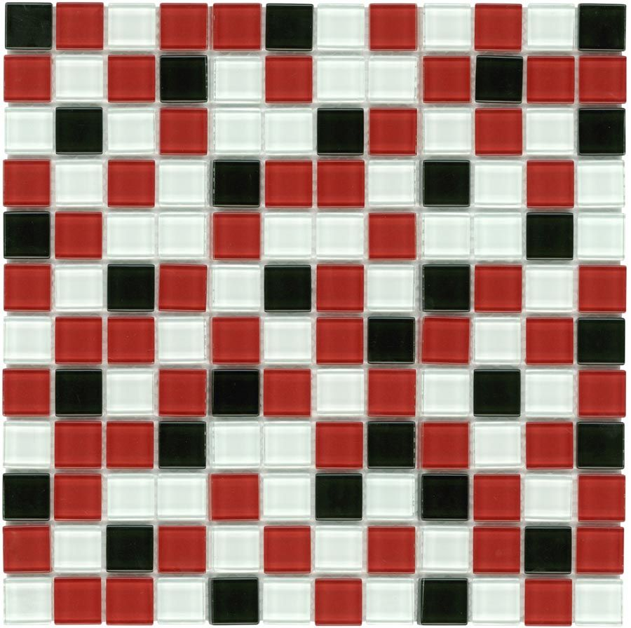 Mineral tiles glass mosaic tile backsplash red black 1x1 1160 mineral tiles glass mosaic tile backsplash red black 1x1 1160 http dailygadgetfo Image collections