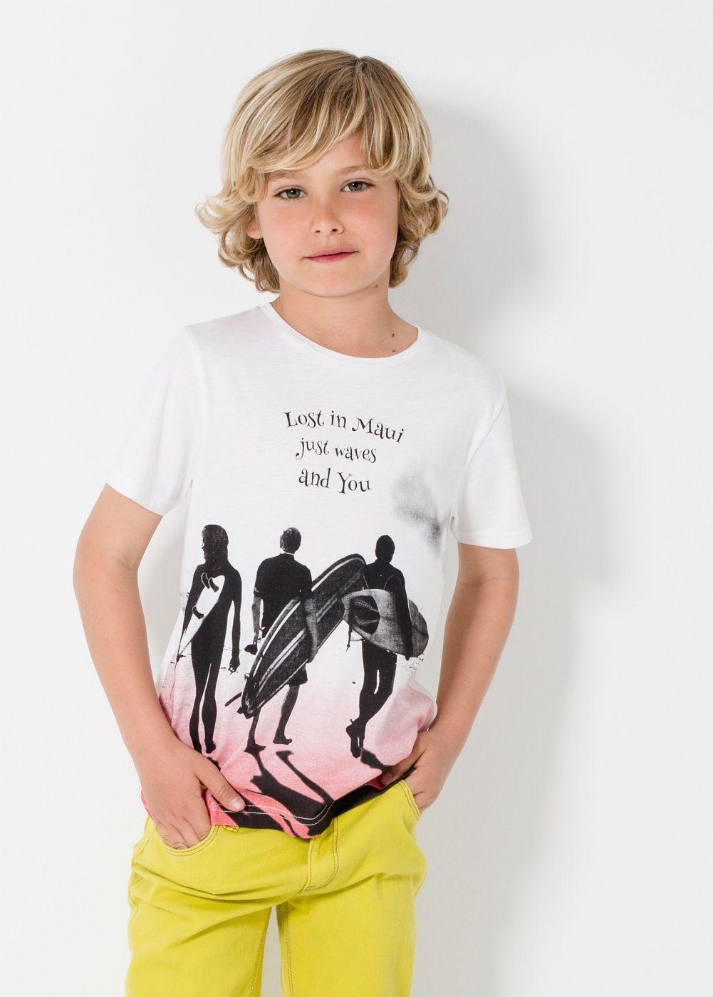 Surfs Up Boys Girls Childrens Kids T-Shirt