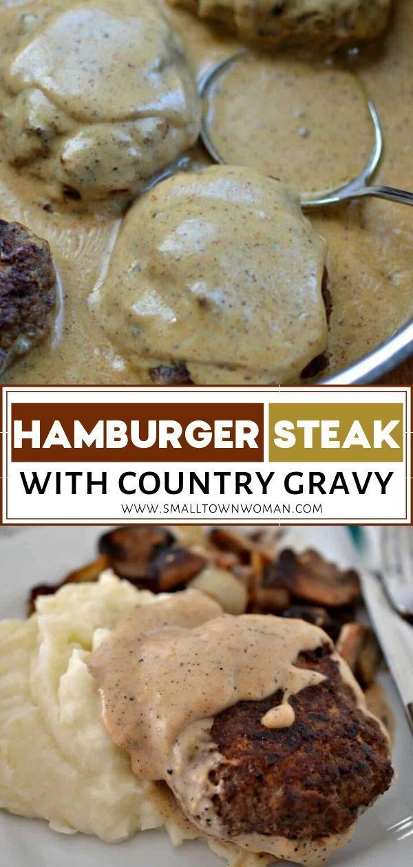Hamburger Steak with Country Gravy