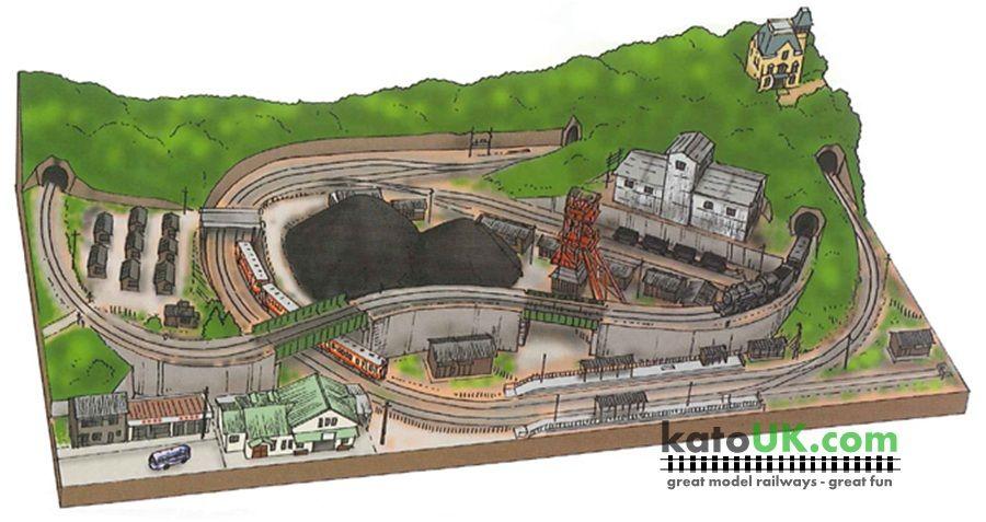 Kato Unitrack Coal Mine Track Plan