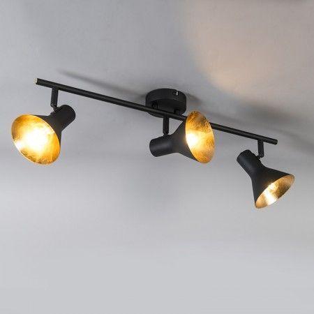 Modernes Spotschwarz 3 Licht Dreh Und Neigbares Magno Deckenstrahler Wohnzimmer Leuchte Beleuchtung Wohnzimmer Decke