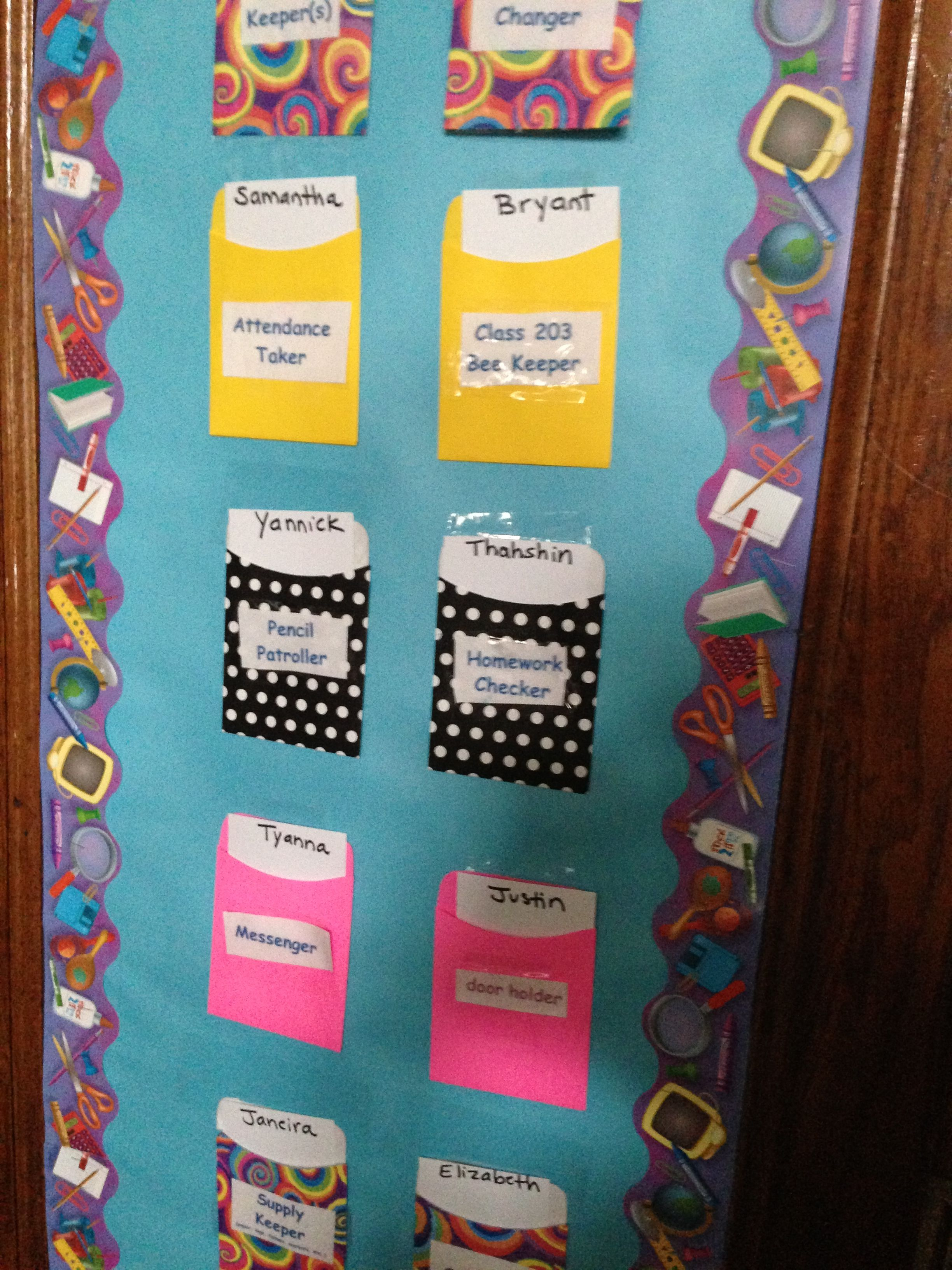 Innovative Classroom Jobs ~ From my rd grade class in ps assigning classroom jobs