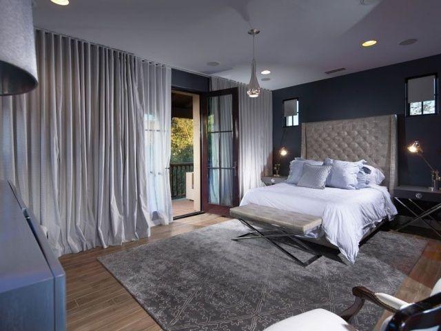 wandfarben im schlafzimmer-ideen-räume mit vorhänge verdunklen - wandfarben im schlafzimmer 100 ideen