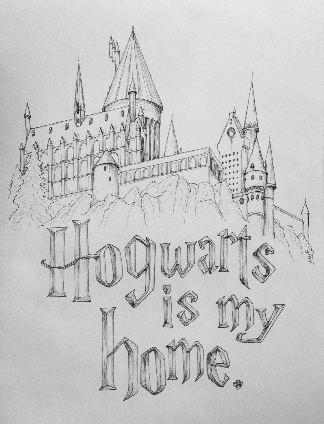 Harry potter rocks my world hogwarts is my home hogwarts castle art print on etsy
