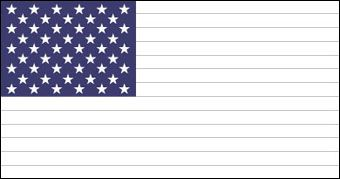 Send Your Sponsored Child A Blank American Flag Printable And Give