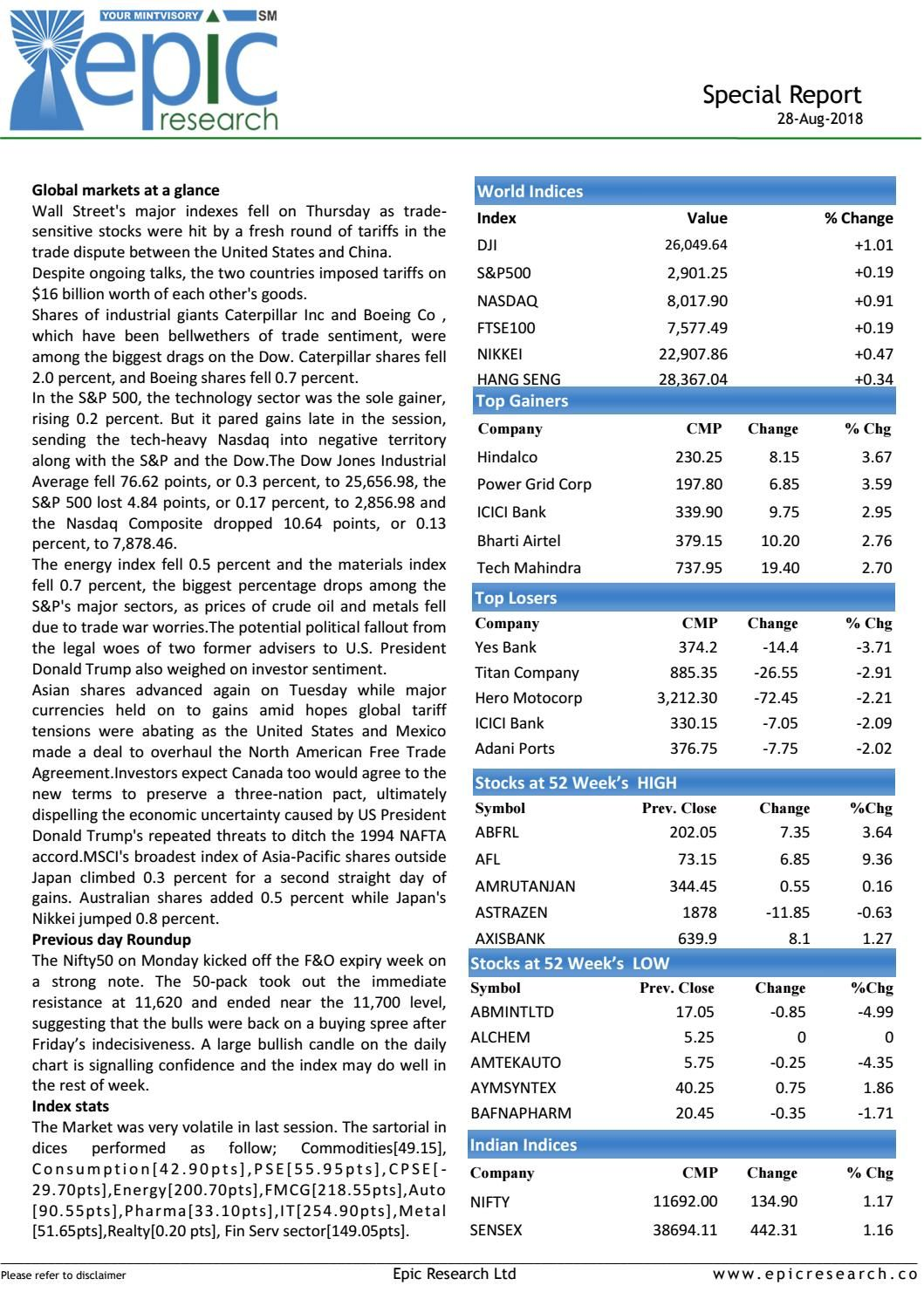 Special report28august2018epicresearch Investing in