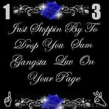Gangsta Love Quotes Gangsta Love Quotes  Httpwwwmyspacegraphics24Gangster
