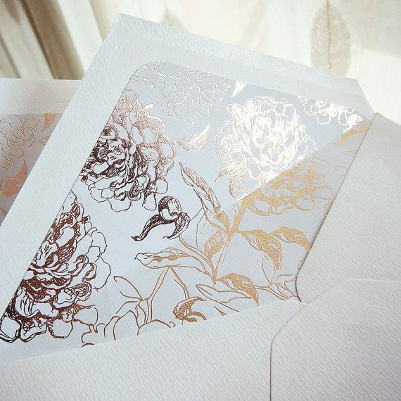 These Delicately Foiled Envelopes Liners In Rose Gold Will Add The Perfect Touch Quality And Wedding Invitationswedding