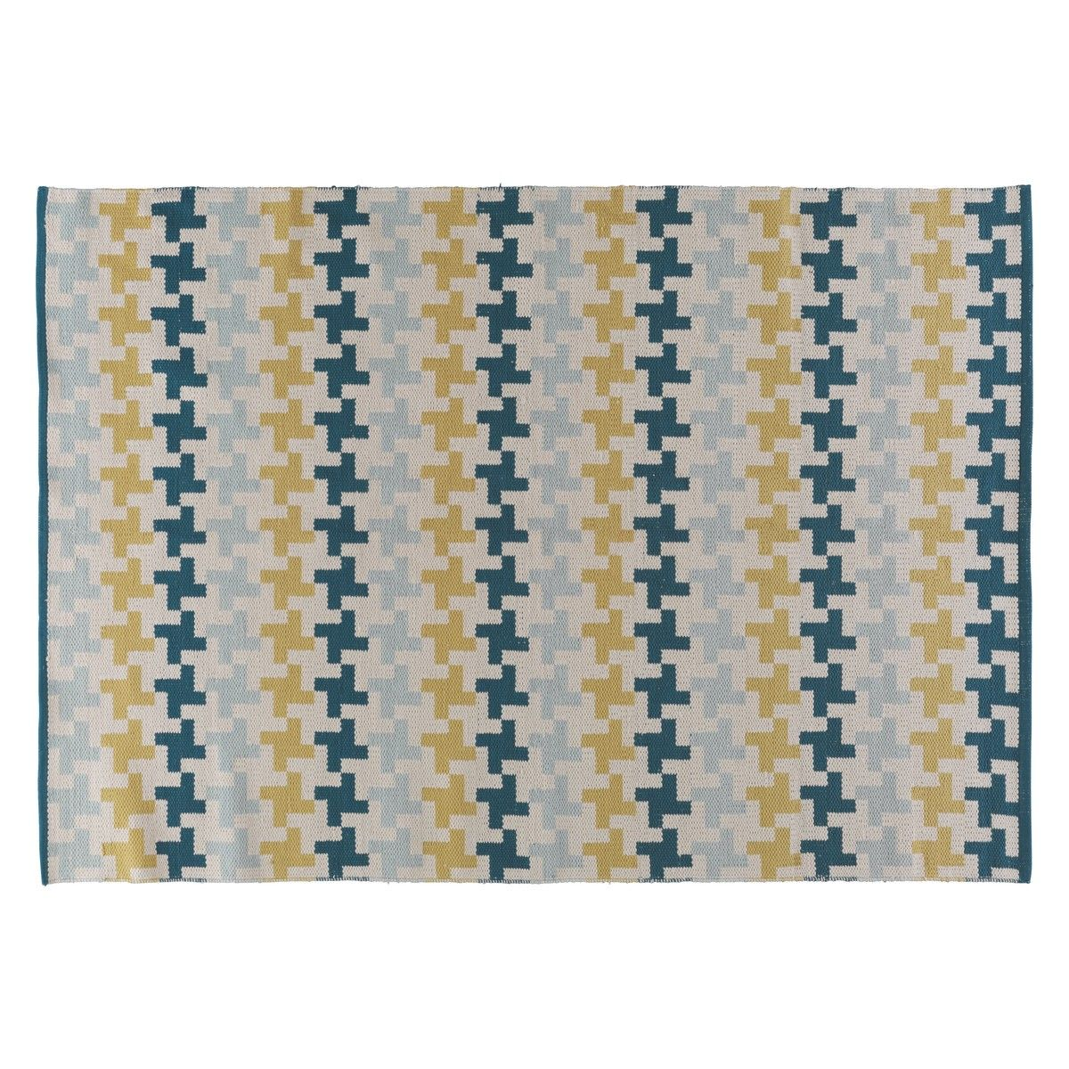 Blaine Medium Blue And Green Patterned Rug 140 X 200cm Now At Habitat Uk Small Round Rugsoffice Coloursrug