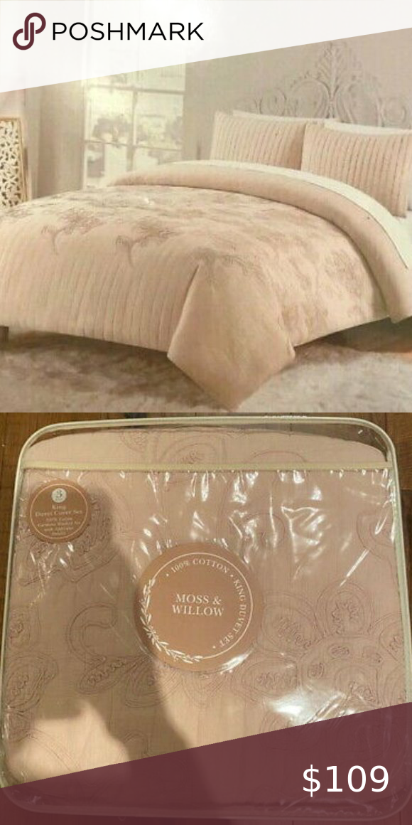 Moss Willow Dusty Rose Applique 3 Pc Full Queen Duvet Sets Duvet Cover Sets Queen Duvet Covers
