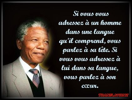 Nelson Mandela French Quote Translation