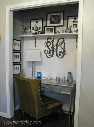 walk in closet office. Unused Closet Turned Into Office Or Vanity Area In Walk