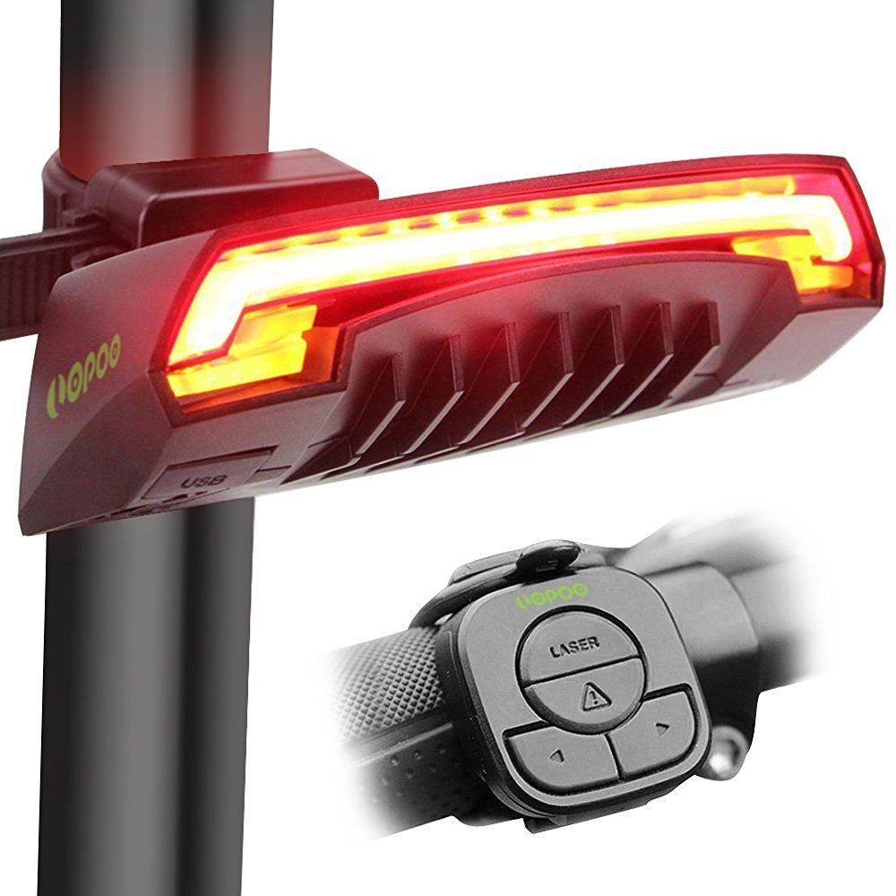 LOPOO X5 Smart Bike Tail Light, USB Rechargeable Bicycle