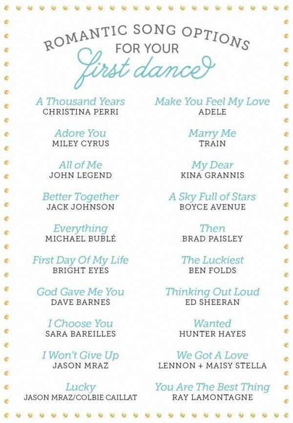 Romantic First Dance Songs Wedding In 2019 Wedding Songs