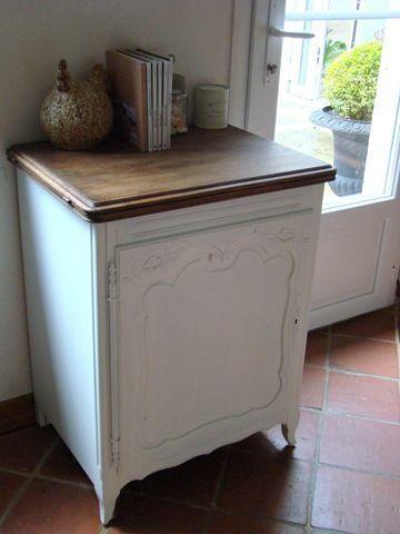 Confiturier relook white confiturier mobilier de salon et relooker meuble ancien - Meuble confiturier ancien ...