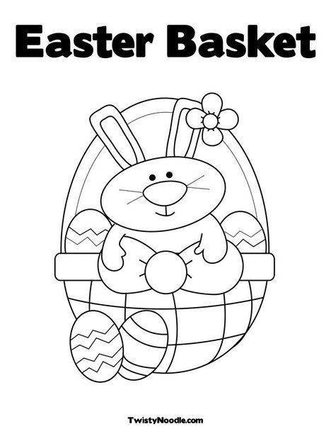 Easter Basket Coloring Page Bunny Coloring Pages Easter Bunny Colouring Easter Coloring Pages Printable