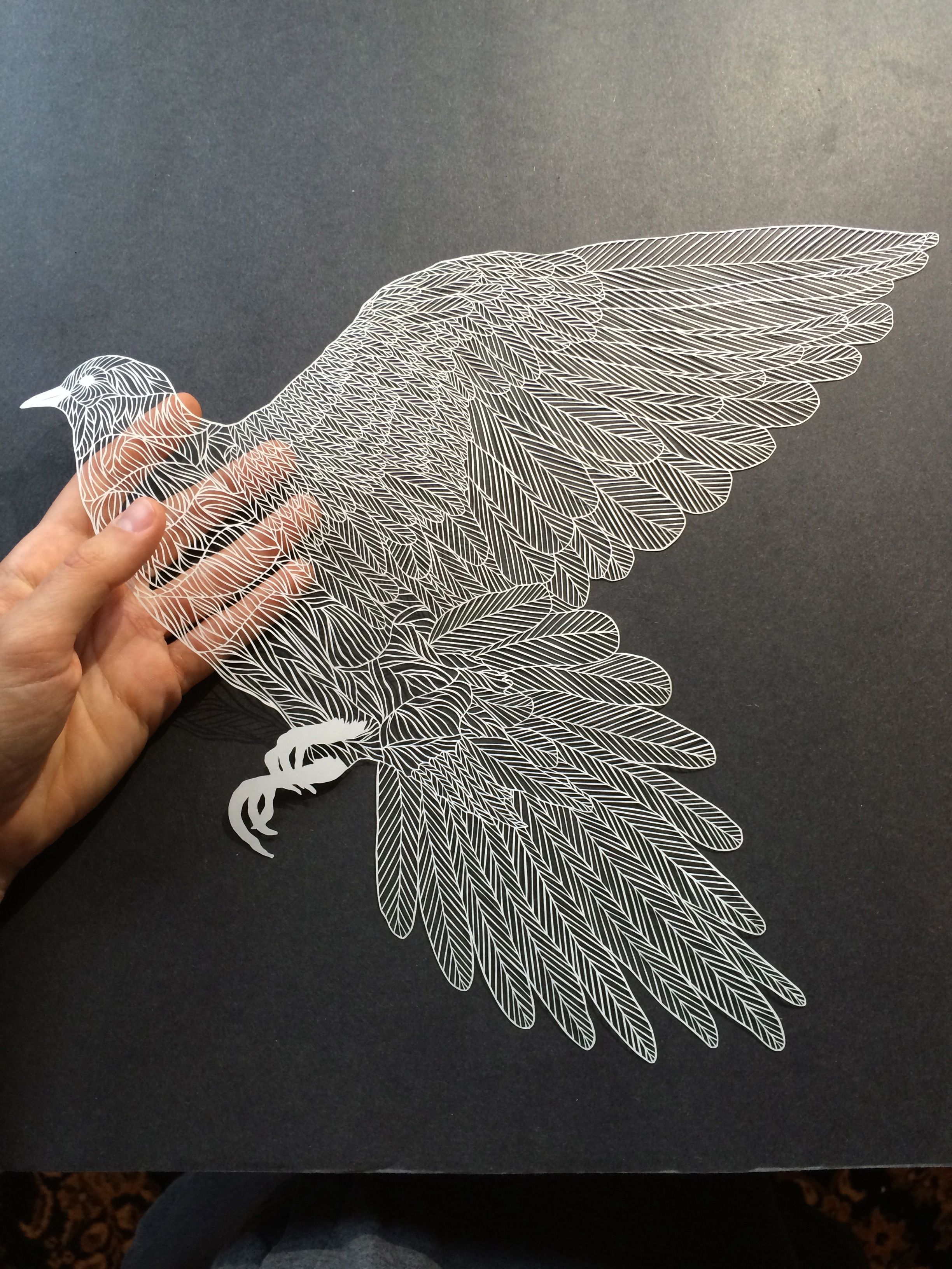 Handcut paper art by Maude White bravebirdpaperart.com