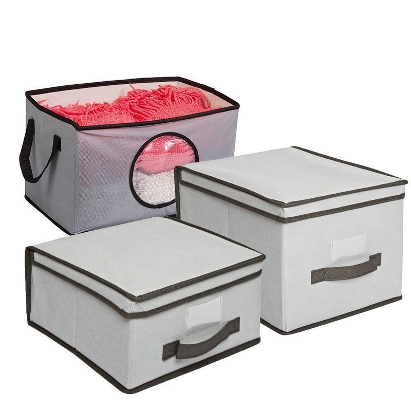 Set X 3 Cajas Organizadoras Nouvelle Cuisine Tela Estampados