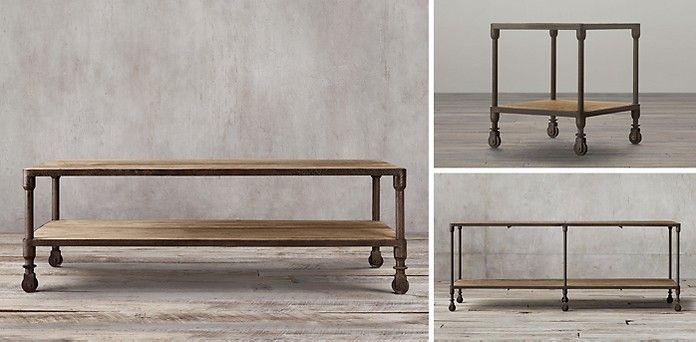Dutch Industrial Collection   Reclaimed Natural Elmu0026 Rust Metal | RH.  Rusted MetalCoffee CocktailsOccasional TablesCocktail TablesRestoration  HardwareCoffee ...