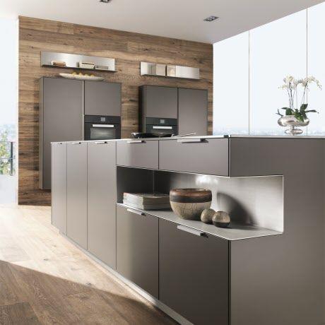 minimalistische k che mit formsch nen griffleisten k chenkonzepte von intuo pinterest. Black Bedroom Furniture Sets. Home Design Ideas