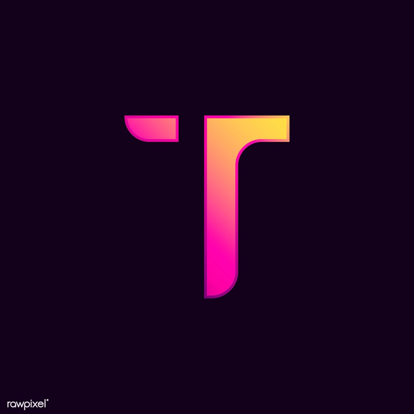 Download premium vector of Capital letter T vibrant