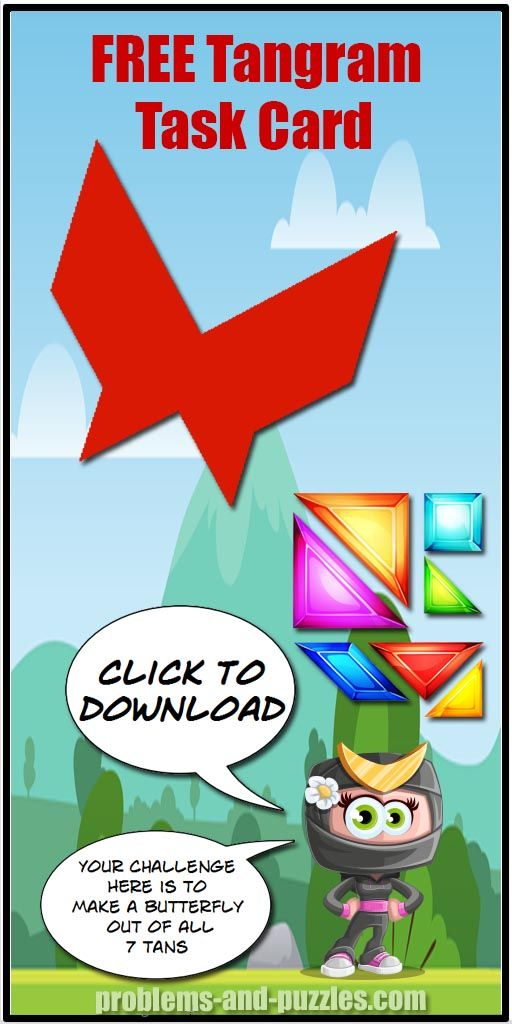 butterfly 2  tangram puzzle  problem solving activities