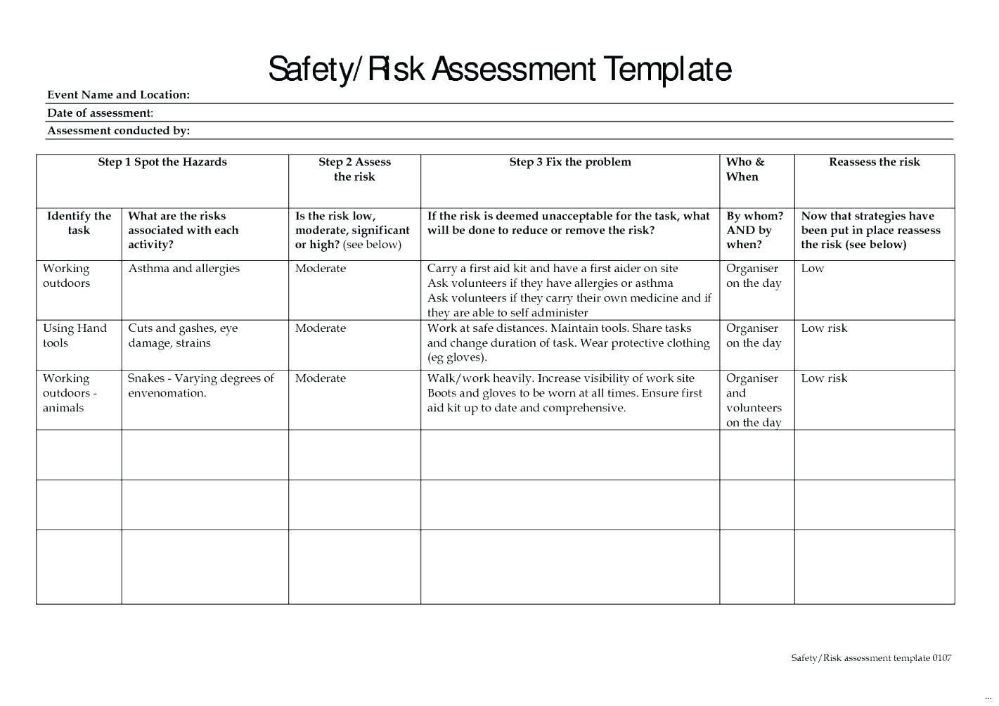 Construction Risk Management Plan Report Sample Template For