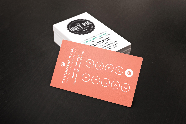 The Ugly Pie Bakery & Cafe loyalty reward card for coffee & teas ...