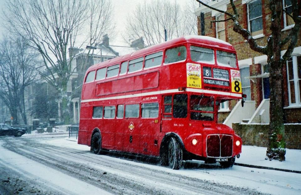 00ec9831e WINTER LONDON BUS>> LOVED THE RED BUS IN SNOW AS A CHILD | LONDON ON ...