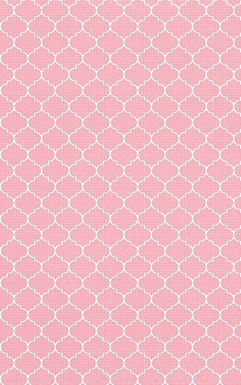 Pink quatrefoil mini dots spots iphone background phone ...