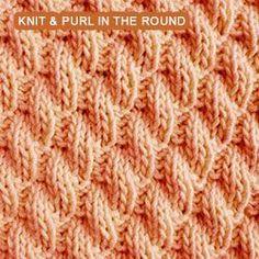 Right Diagonal Rib stitch pattern - knitting in the round ...