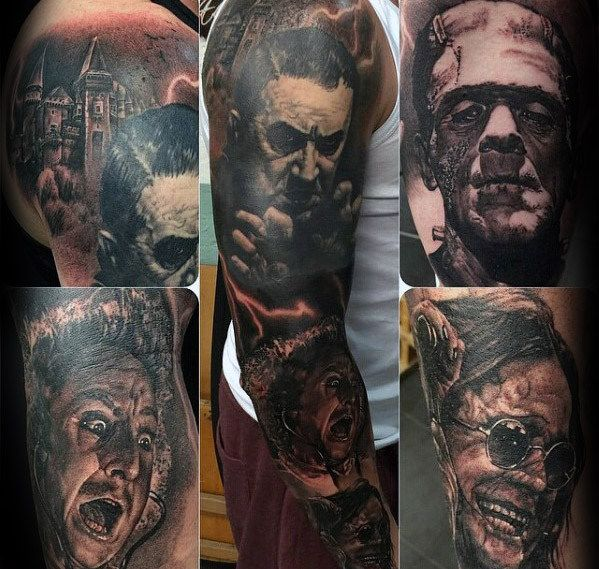 39785faf5 40 Dracula Tattoo Designs For Men - Blood Sucking Vampire Ideas ...