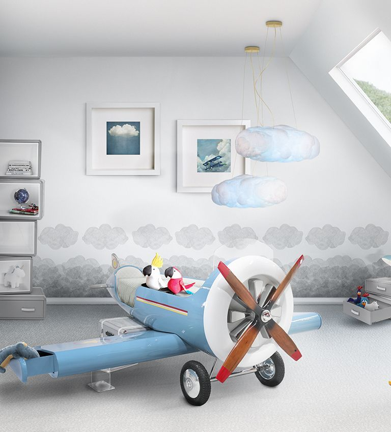 Aviator Bedroom Inspirations Find Inspiration In This Plane Decoration To Create An Amazing And Luxurious Bedroom For Bedroom Themes Kid Room Decor Kid Beds
