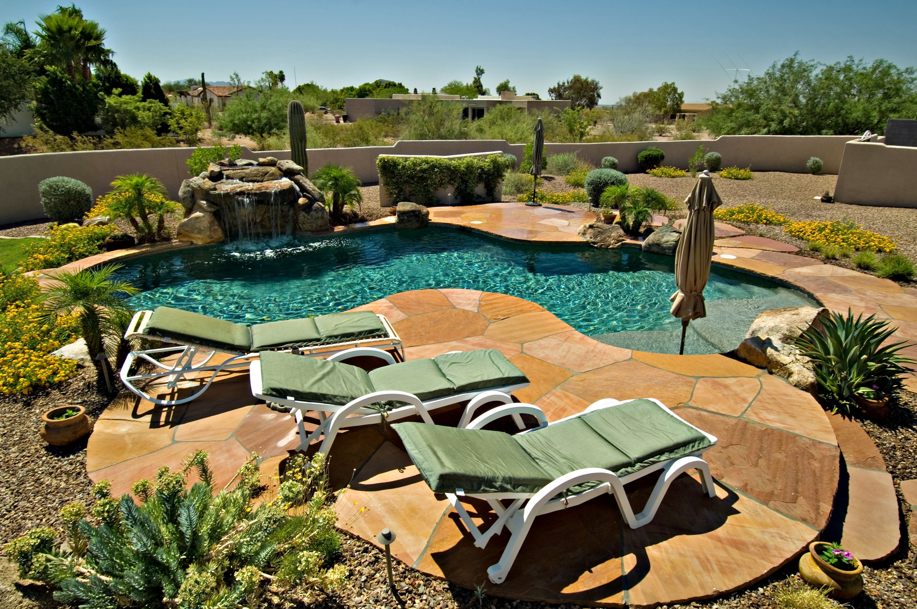 Backyard Pool Landscaping Ideas Arizona Backyard Backyard Pool