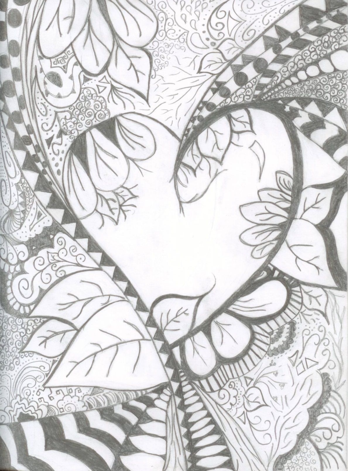 Abstract heart ~ tattoo idea.. How it branches off to different ...