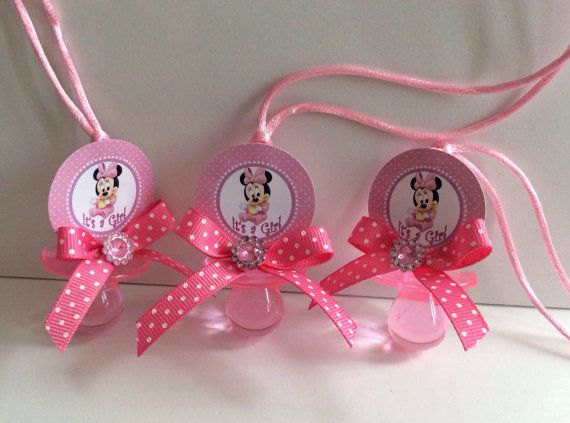 Minnie Mouse Baby Shower Pacifiers Minnie Mouse Baby Shower Favors