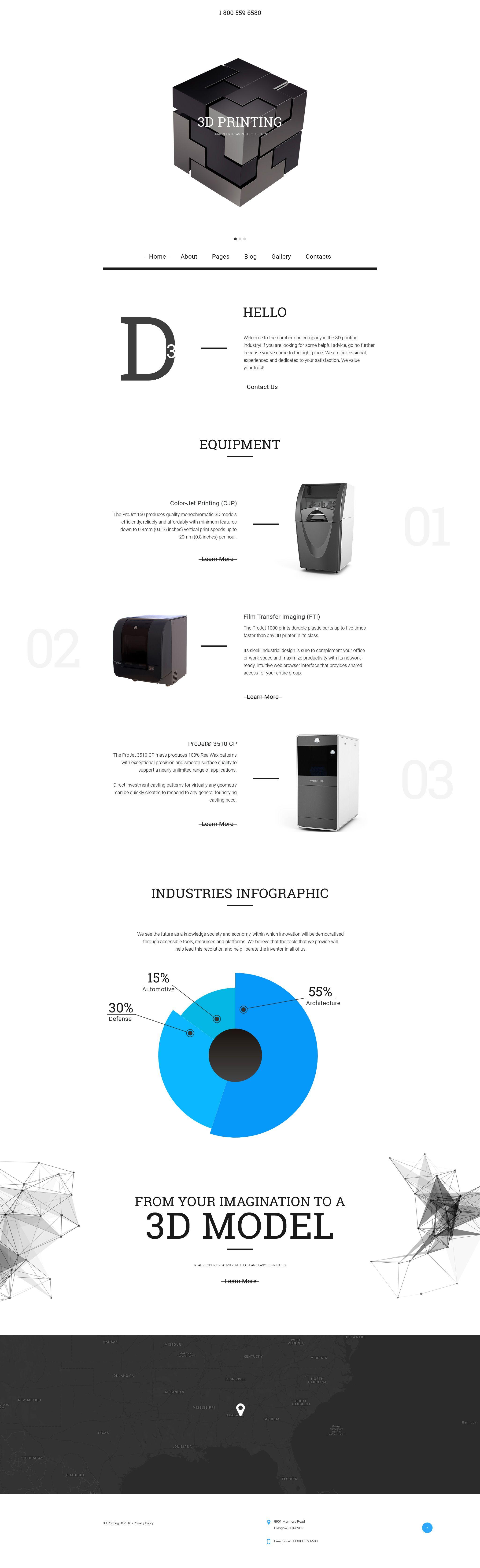 3D Printing Joomla Template Joomla templates, Templates