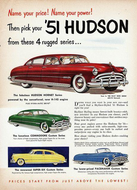1951 Hudson Model Line