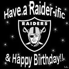 Have A Raider Ific Amp Happy Birthday With Images Raiders