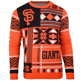 e69d1c8dbcfa San Francisco Giants Klew Patches Ugly Sweater - Black/Orange ...