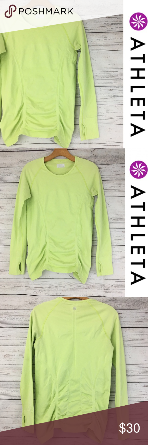 69f37453f7 Athleta fasted track running long sleeve top Super bright and fun Athleta fastest  track top with