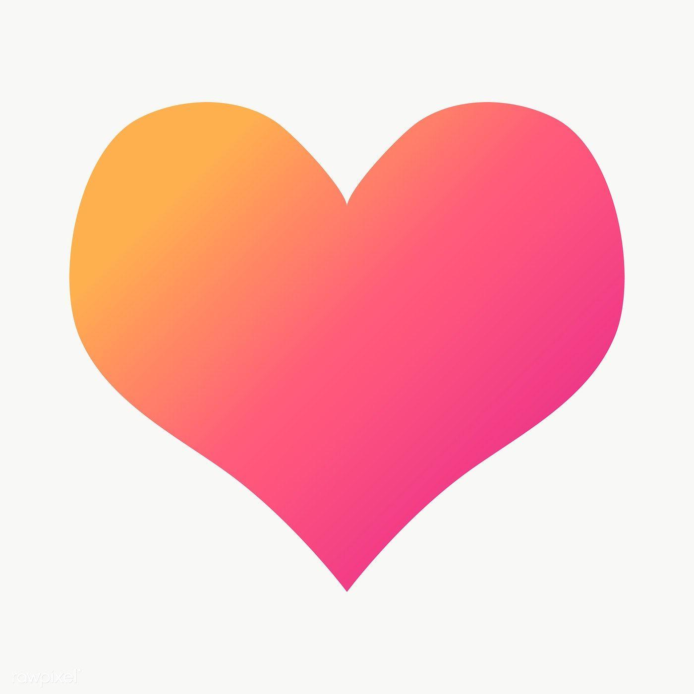 Pink Gradient Heart Geometric Shape Transparent Png Free Image By Rawpixel Com Ningzk V Geometric Shapes Geometric Star Printable Designs