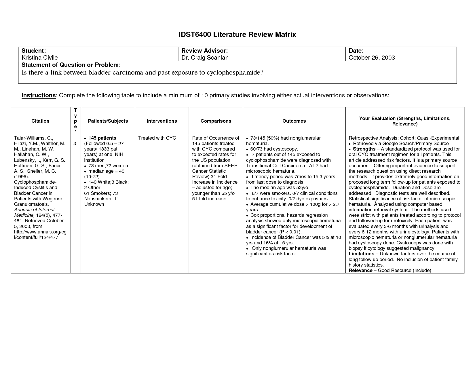 Systematic Literature Review Table. 4 Writing A Systematic